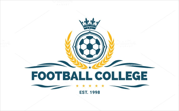 Football College Logo Template