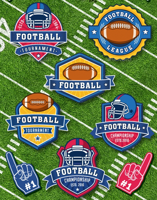American Football Vector Logo Collection