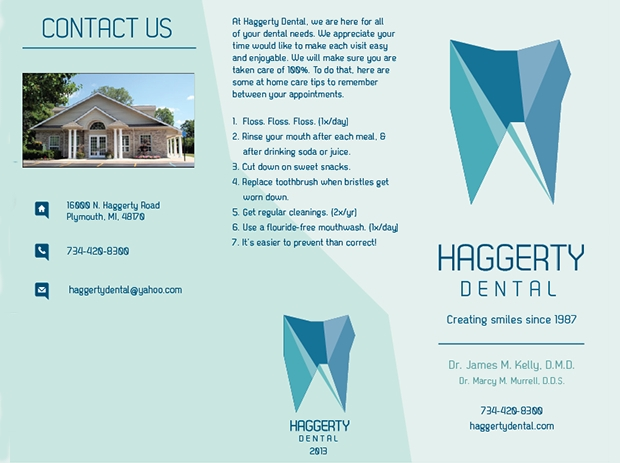 dentist office brochure