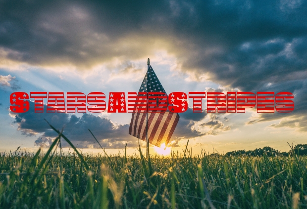 Stars And Stripes Patriotic Font