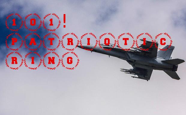 Patriotic Ring Font