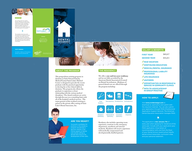 simple dental brochure design