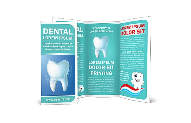 dental concept brochure template