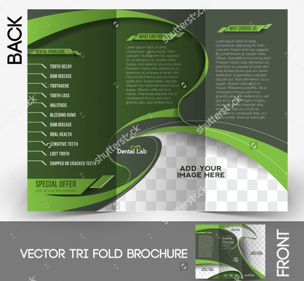 tri fold dental brochure design1