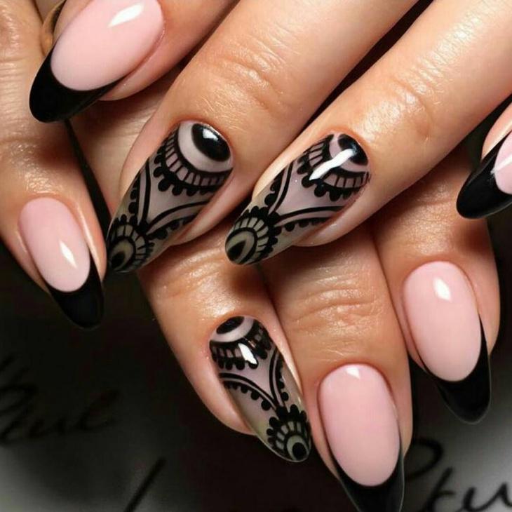 Gel Wedding Nail Design