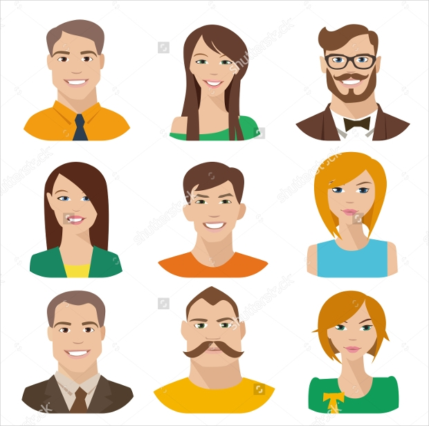 flat human vector characters