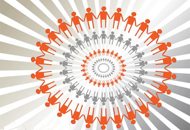 human circle vector