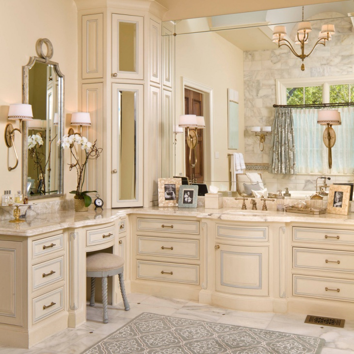 18+ Bathroom Corner Cabinet Designs, Ideas | Design Trends ...