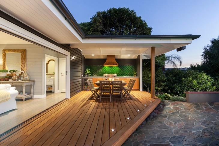 Outdoor Wooden Deck Idea