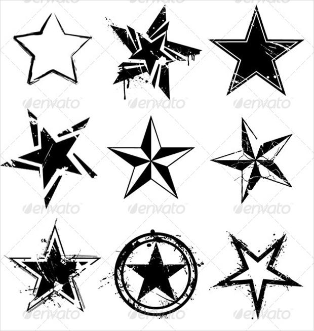 star grunge vector