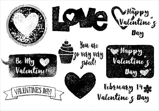 valentines day grunge vector