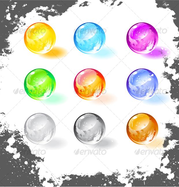 grunge balls vector