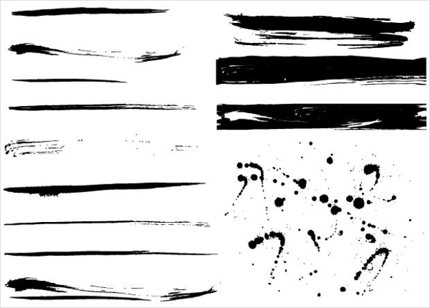grunge paint splashes vector