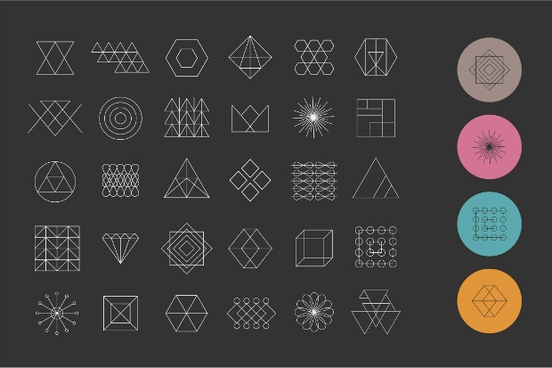 Geometry Shapes Vector Set