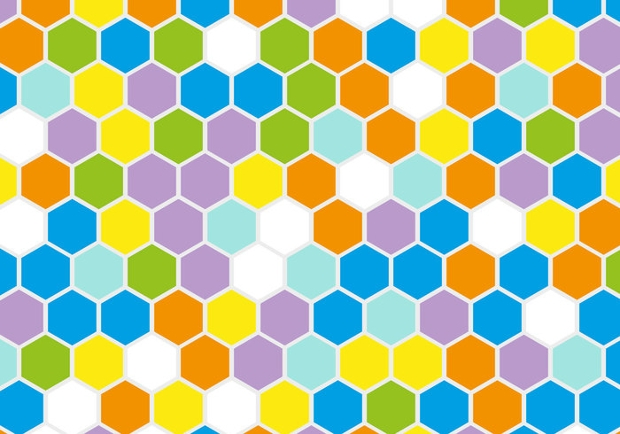 Retro Geometric Hexagon Vector