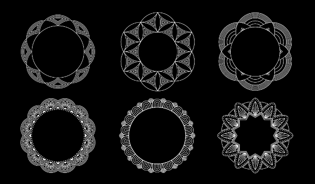 mandala geometry vector set