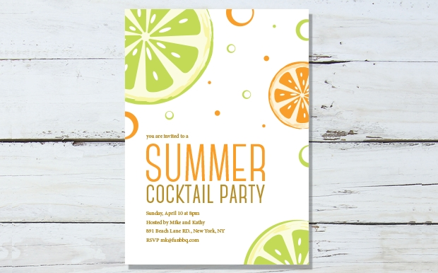 16 pool party invitation templates printable psd ai for Cocktail party invite template
