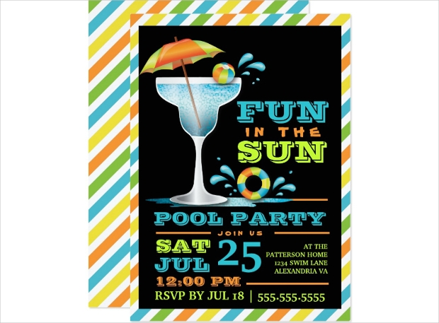 Adult Pool Party Invitation