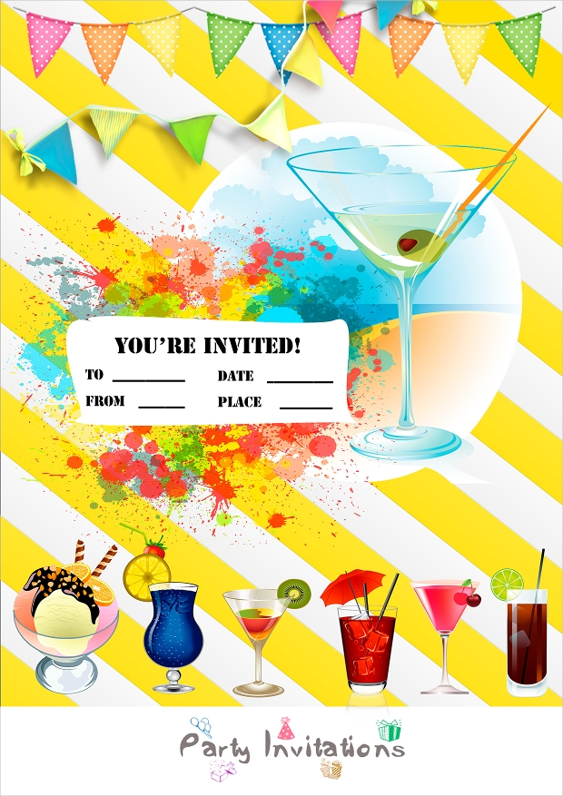 Summer Pool Party Invitation Design