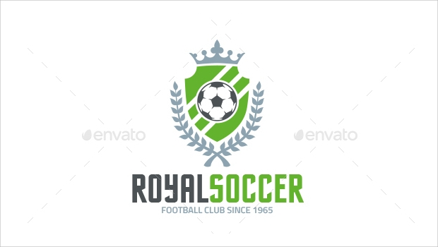 royal soccer logo template