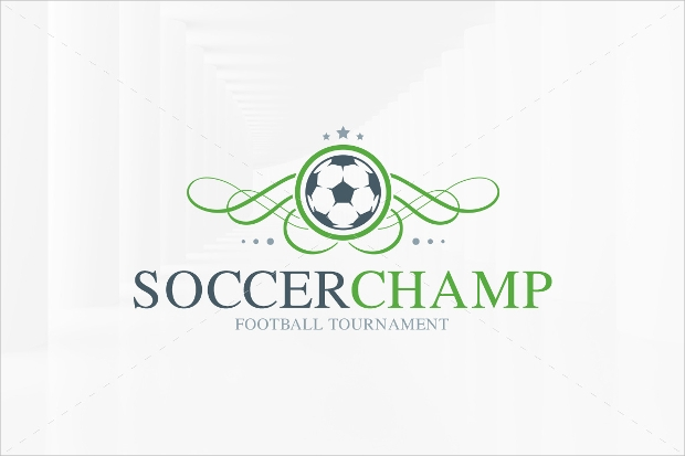 Soccer logo design template