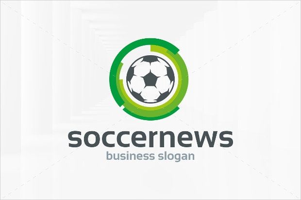 Soccer News Logo Template