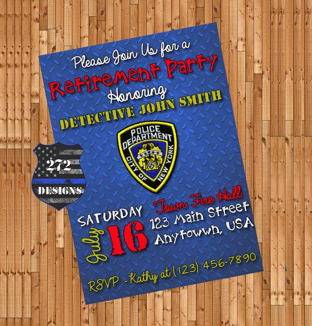 Police Retirement Invitation