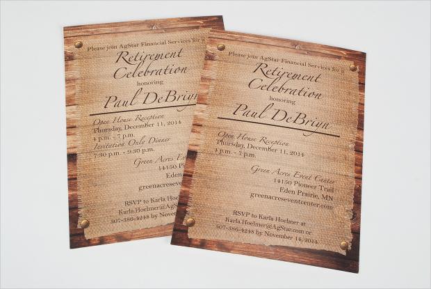 Indesign Retirement Party Invitation