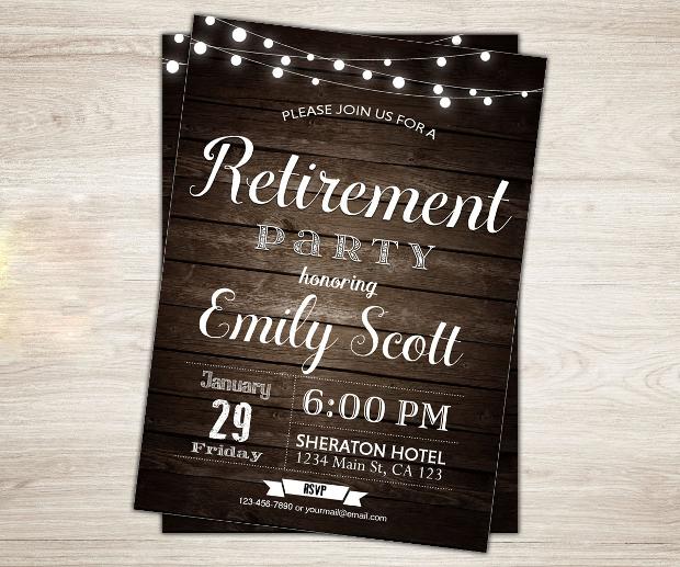 20+ Retirement Party Invitation Templates - Printable PSD ...