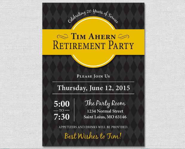 Argyle Retirement Party Invitation