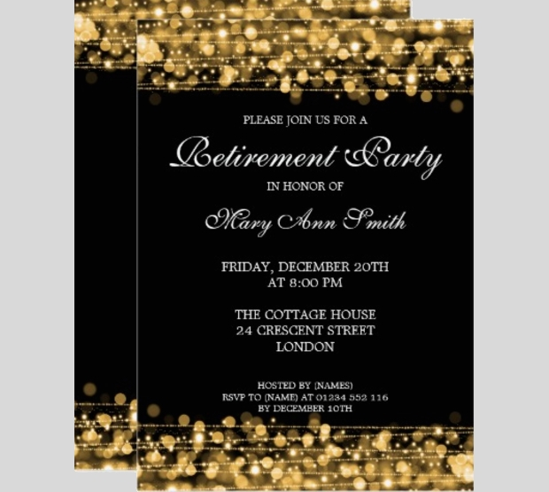 Retirement Party Invitation Templates Printable PSD AI - Party invitation template: free police party invitation templates