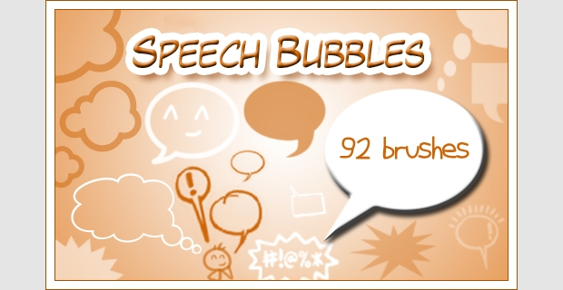 92 speech photoshop brushes