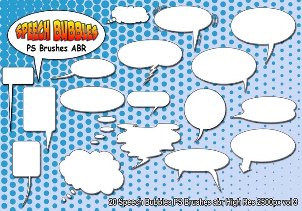 speech bubble ps brushes