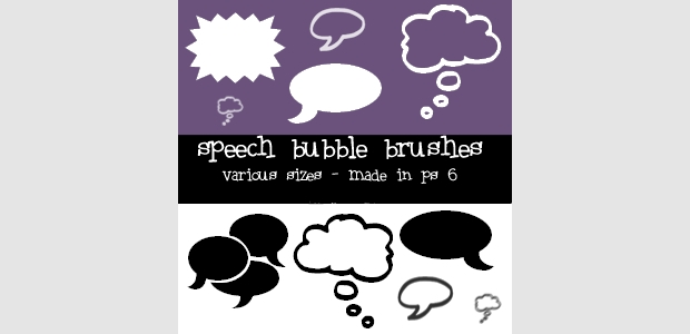 14 speech bubble brushes
