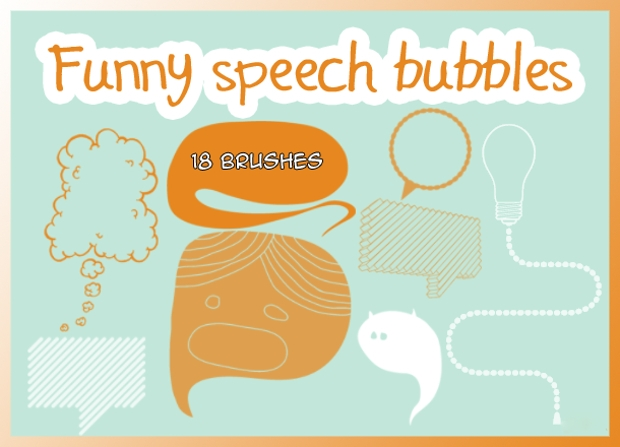funny speech bubble brushes