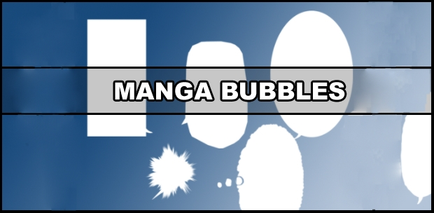 manga speech bubbles brushes