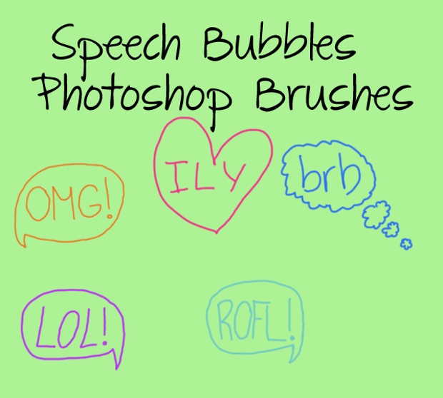 photoshop brushes speech bubbles