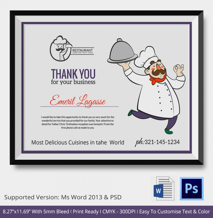 Thank You Certificates  Psd  Word Designs  Design Trends