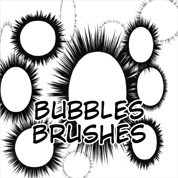 speech bubbles brushes set