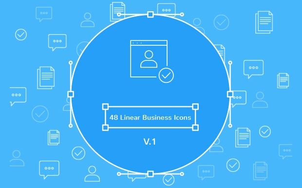 linear business icons