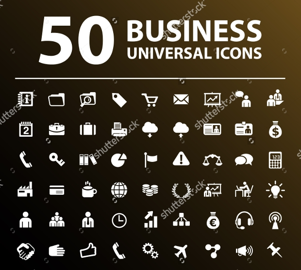 business universal icons