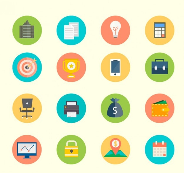 free colored business icons