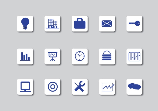 white business icons