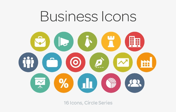 business circle icons