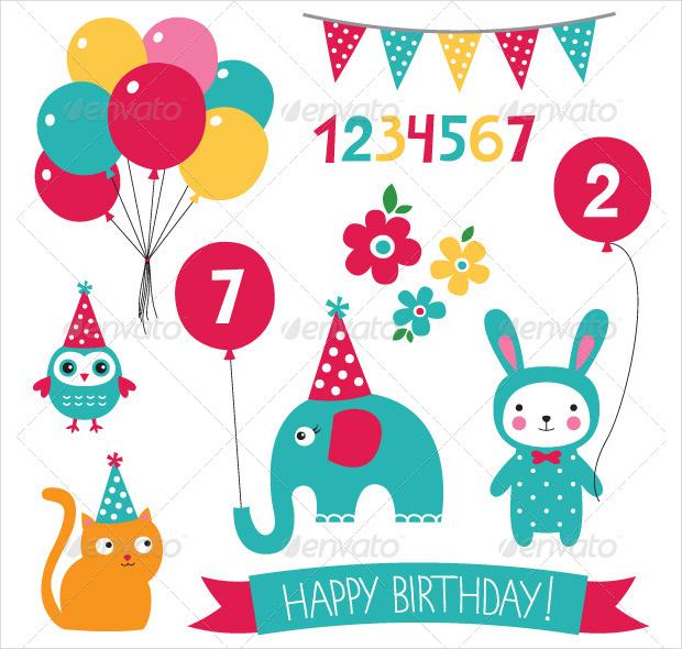 kid birthday vector