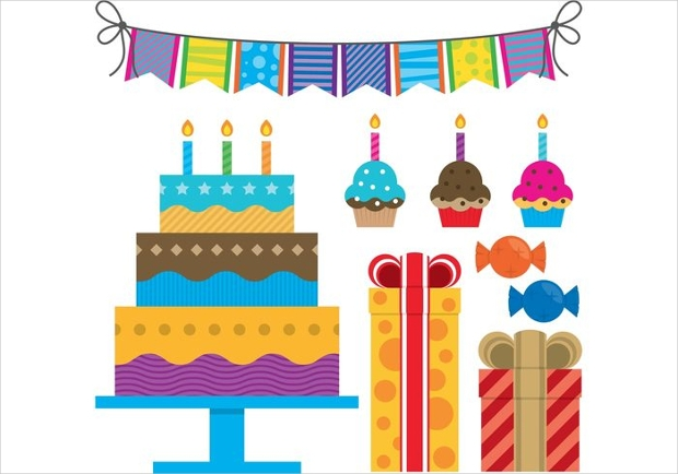 Colorful Birthday Vectors