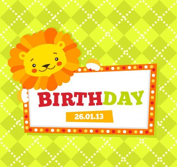 childrens birthday card vector
