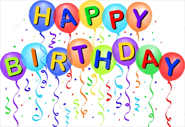 happy birthday balloons vector design