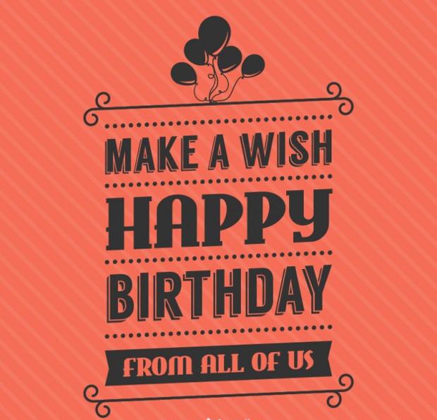 birthday lettering vector