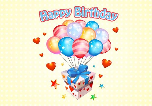 happy birthday vector pack